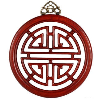 Long Life Handmade Medium Rosewood Finish Wall Plaque (China)