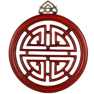 Long Life Hand-rubbed Medium Rosewood Finish Wall Plaque (China)