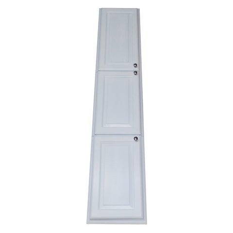 78-inch Recessed White Plantation Pantry Storage Cabinet