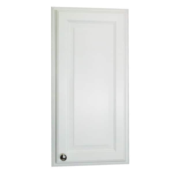 30 inch recessed white plantation medicine storage cabinet