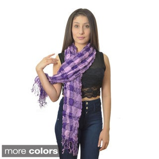 LA77 Plaid Oblong Scarf