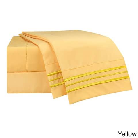 Clara Clark Premier 1800 Series Deep Pocket Bed Sheet Set