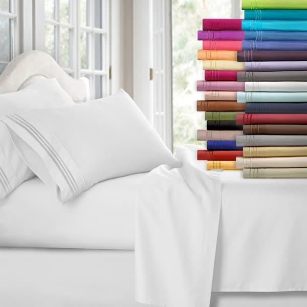 242d46de99 Shop Clara Clark Premier 1800 Series Deep Pocket Bed Sheet Set ...