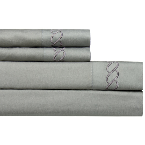 Cable Embroidered 800 Thread Count Easy-care 4-piece Deep Pocket Sheet Set