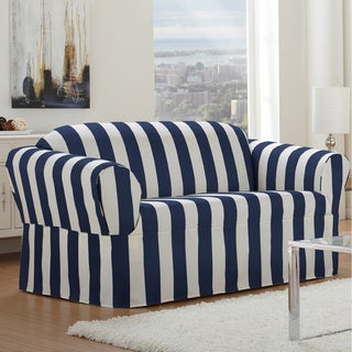 QuickCover Cabana One-piece Relaxed Fit Wrap Loveseat Slipcover