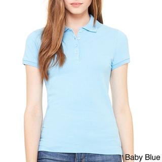 Bella Women's Mini Pique Short-sleeve Polo