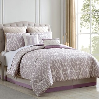Amraupur Overseas Azlin Floral Damask 8-piece Comforter Set