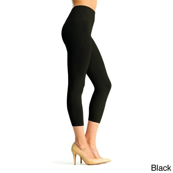 Memoi Women's 'SlimMe' High Waist Leggings (Black Extra L...