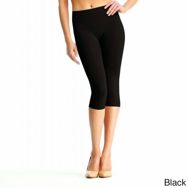 f1a465aed05d Shop Memoi Women's SlimMe High Waist Capri Shaper - On Sale - Free Shipping  On Orders Over $45 - Overstock - 9313179