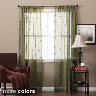 Zurich Embroidered Curtain Panel Pair