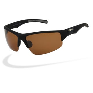 Piranha Unisex 'Outdoor Golf Define' Black Polycarbonate Sport Sunglasses