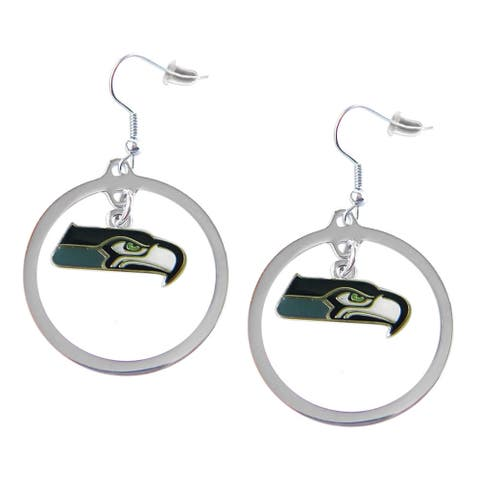 NFL Seattle Seahawks Hoop Charm Earrings