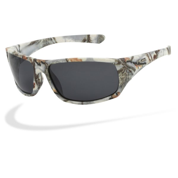 ba2166920b Shop Piranha Men s  Outdoor  White Forest Camo Oval Sport Sunglasses ...
