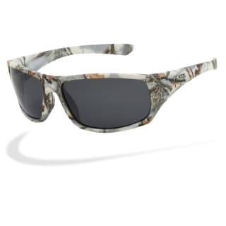 Piranha Men's 'Outdoor' White Forest Camo Oval Sport Sunglasses