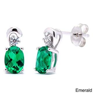 Link to Oravo Sterling Silver Oval Gemstone Stud Earrings Similar Items in Earrings
