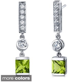 Oravo Sterling Silver Princess Shape Earrings