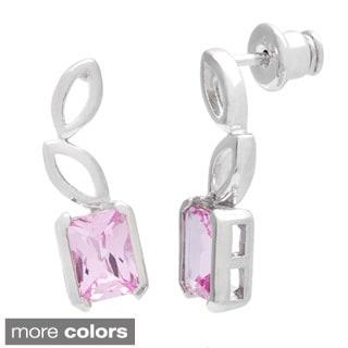 Oravo Sterling Silver Radiant Shape Gemstone Earrings