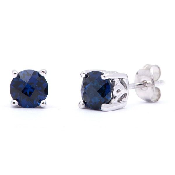 Oravo Sterling Silver Round-cut Gemstone Earrings. Opens flyout.