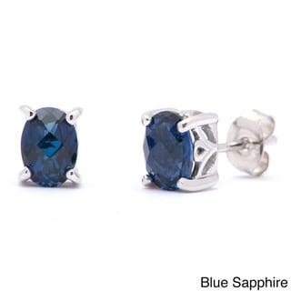 Link to Oravo Sterling Silver Oval-cut Gemstone Earrings Similar Items in Earrings