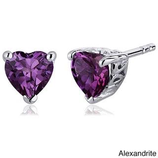 Link to Oravo Sterling Silver Heart-cut Gemstone Earrings Similar Items in Earrings