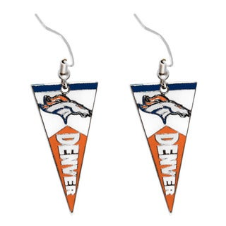NFL Denver Broncos Pennant Earrings