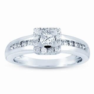 Eloquence 14k White Gold 1/2ct TDW Diamond Engagement Ring (H-I, I2-I3)