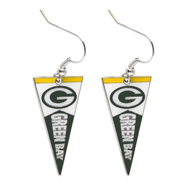 NFL Green Bay Packers Pennant Earrings