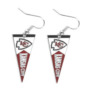 NFL Kansas City Chiefs Pennant Earrings|https://ak1.ostkcdn.com/images/products/9313507/P16474243.jpg?impolicy=medium