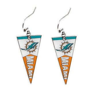 NFL Miami Dolphins Pennant Earrings