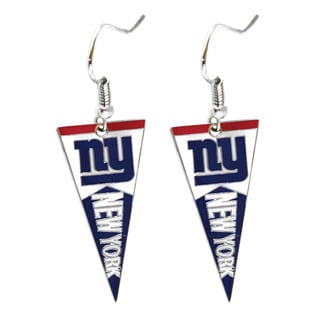 NFL New York Giants Pennant Earrings