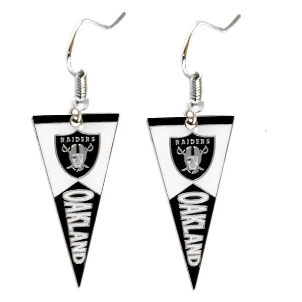 NFL Oakland Raiders Pennant Earrings