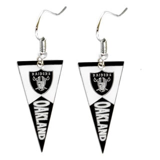 NFL Oakland Raiders Pennant Earrings