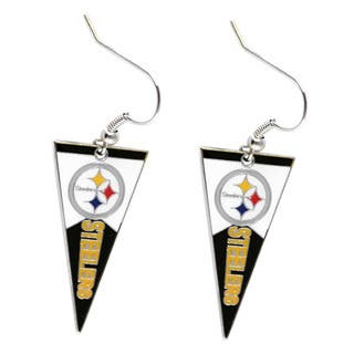 NFL Pittsburgh Steelers Pennant Earrings|https://ak1.ostkcdn.com/images/products/9313517/P16474249.jpg?impolicy=medium