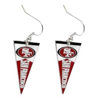 NFL San Francisco 49ers Pennant Earrings|https://ak1.ostkcdn.com/images/products/9313522/P16474250.jpg?impolicy=medium
