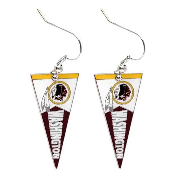NFL Washington Redskins Pennant Earrings