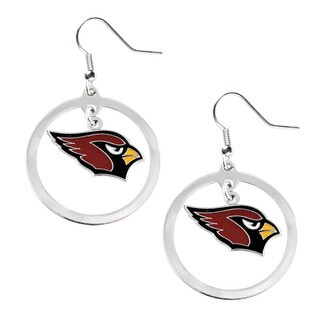 NFL Arizona Cardinals Hoop Charm Earrings