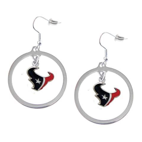 NFL Houston Texans Hoop Charm Earrings
