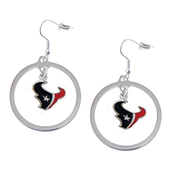 NFL Houston Texans Hoop Charm Earrings