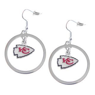 NFL Kansas City Chiefs Hoop Charm Earrings|https://ak1.ostkcdn.com/images/products/9313534/P16474271.jpg?impolicy=medium
