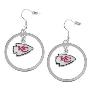 NFL Kansas City Chiefs Hoop Charm Earrings