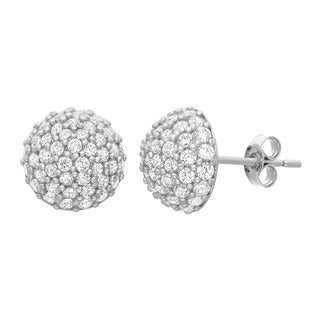 Gioelli 10KT Gold 1.53 tcw Dome CZ Earrings