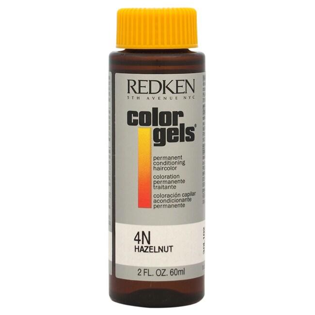 Redken Color Gels Permanent Conditioning 4N Hazelnut 2-ou...