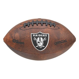 Wilson NFL Oakland Raiders 9-inch Composite Leather Football
