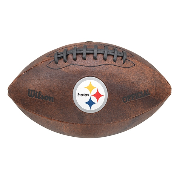 Wilson NFL Pittsburgh Steelers 9-inch Composite Leather Football