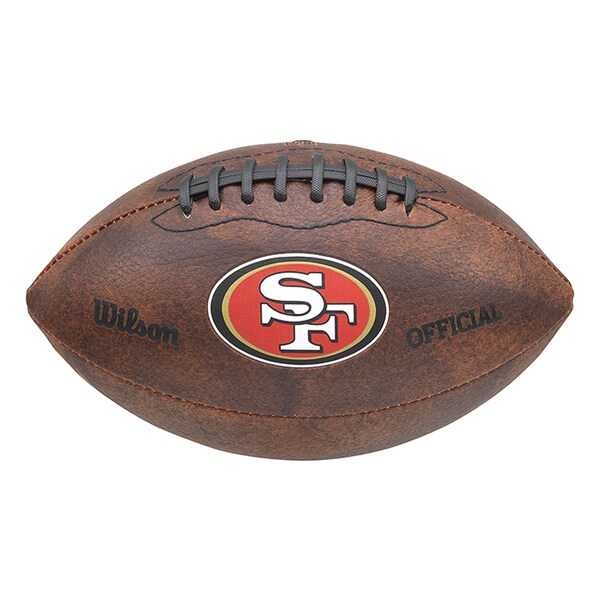 Wilson NFL San Francisco 49ers 9-inch Composite Leather Football