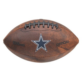 Wilson NFL Dallas Cowboys 9-inch Composite Leather Football