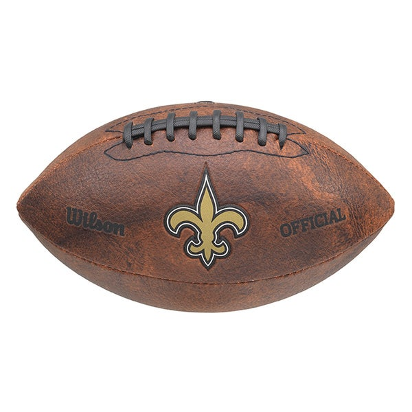 Wilson NFL New Orleans Saints 9-inch Composite Leather Football. Opens flyout.