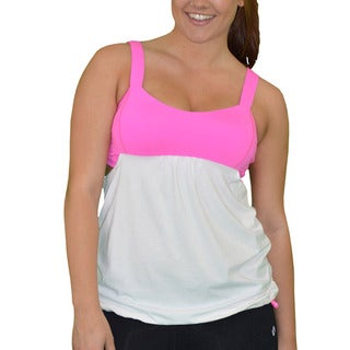 Madison Sport Women's 'Fiona' Ruched Tank Top with Built-in Sports Bra