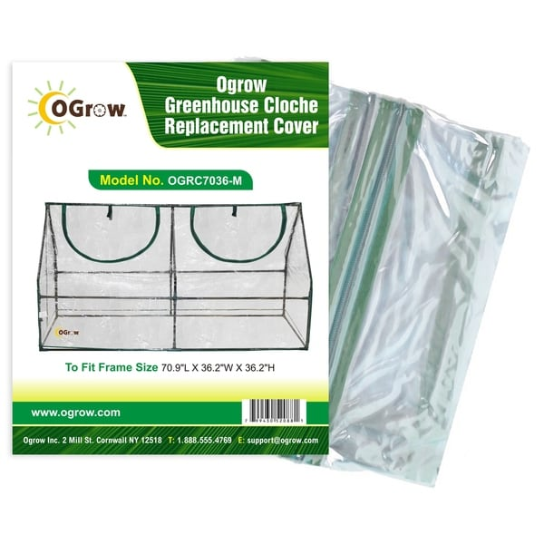 """Ogrow Pe Greenhouse Cloche Pe Replacement Cover - To Fit Frame Size 47.2""""L X 23.6""""W X 23.6""""H"""