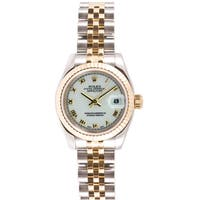 Pre-Owned Rolex Women's 179173.JWR Datejust White Dial Two-Tone Stainless Steel Watch